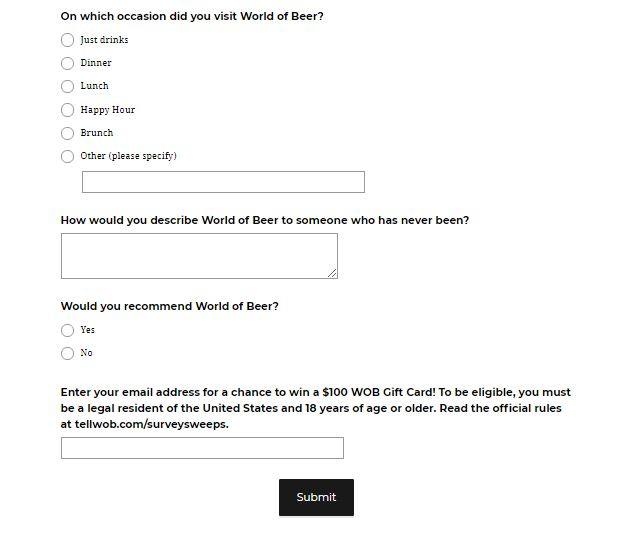 World of BeerExperience Survey