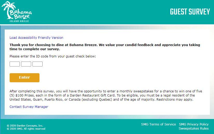 www.BahamaBreezeSurvey.com