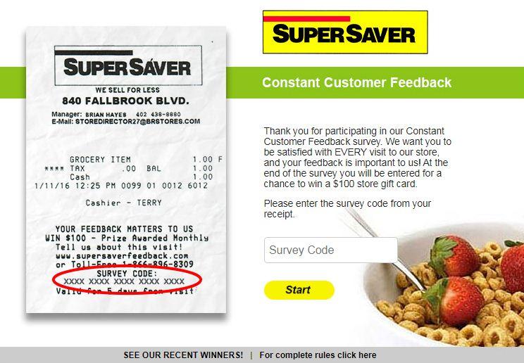 www.SuperSaverFeedback.com