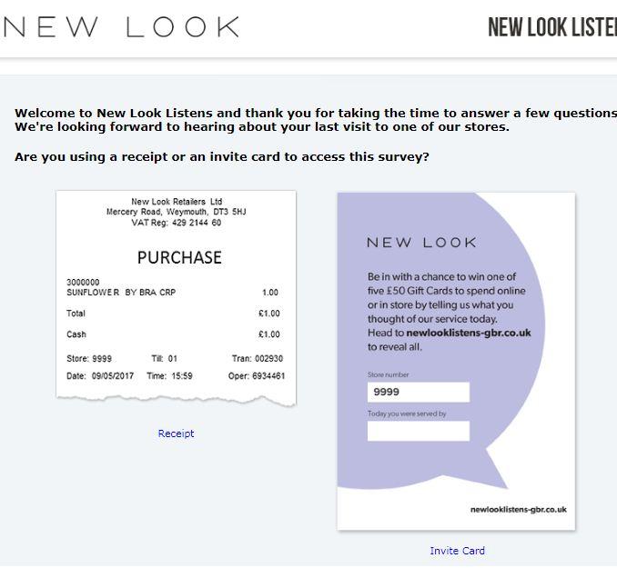 New Look Guest Feedback Survey